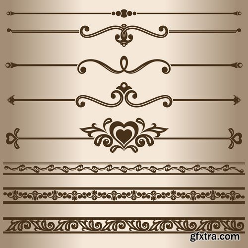 Dividing lines and ornaments - 10 EPS
