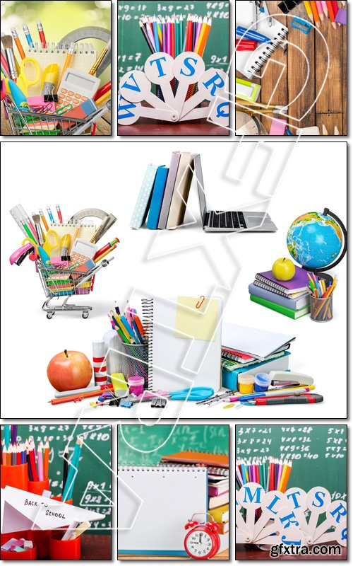 Education, Back to School, Shopping, Colorful pencils - Stock photo