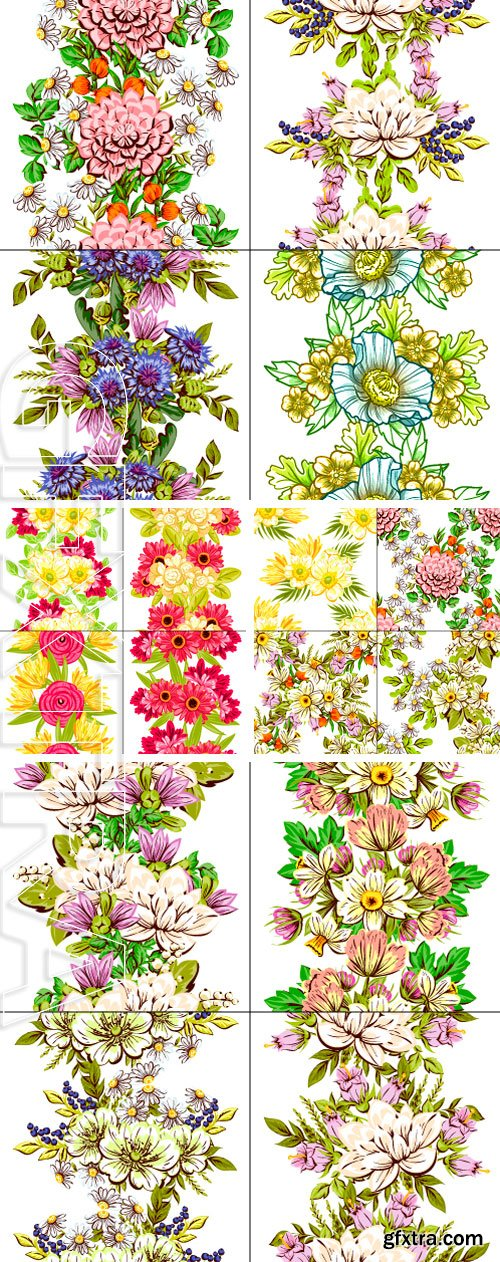 Stock Vectors - Abstract Elegance Seamless pattern with floral background