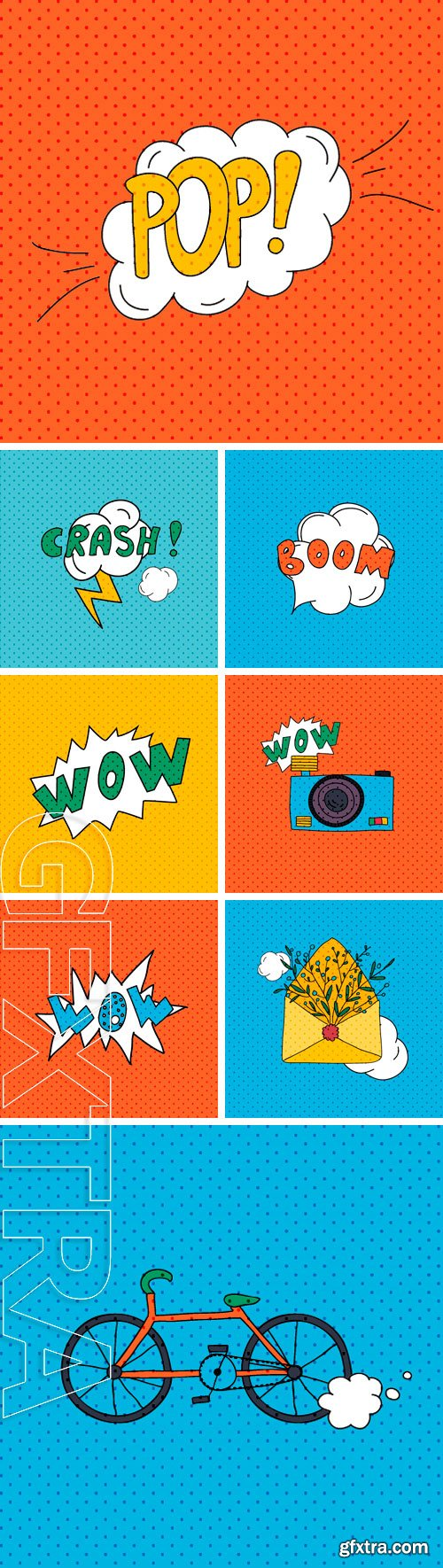 Stock Vectors - Comics pop art style blank layout template. Concept vector for web and mobile applications
