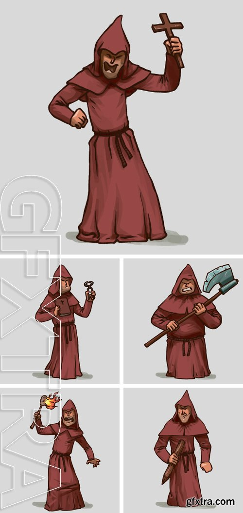 Stock Vectors - Inquisitor with an object, vector