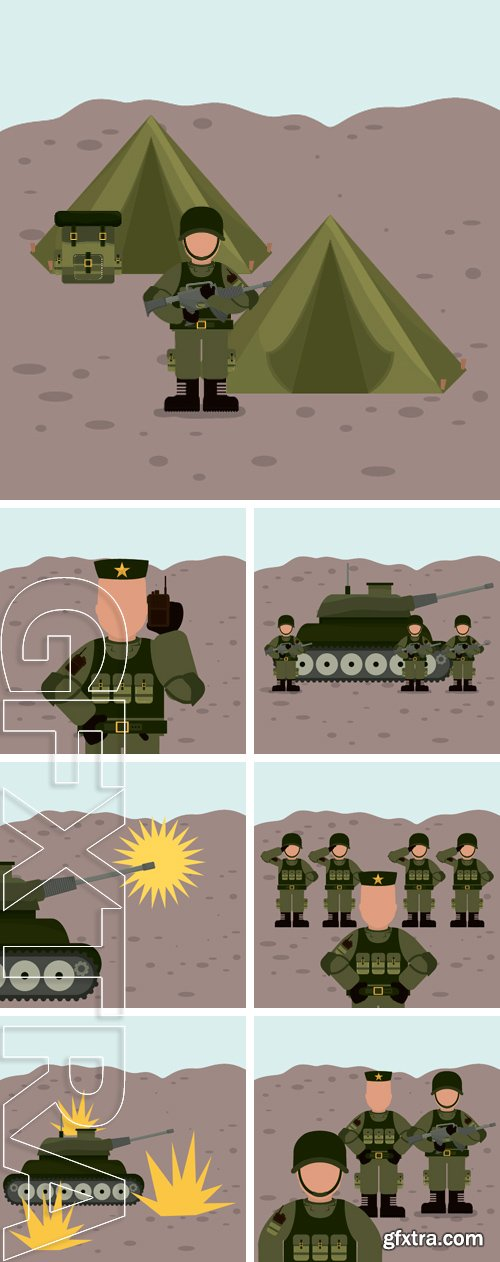 Stock Vectors - Military Armed Forces digital design, vector illustration graphic