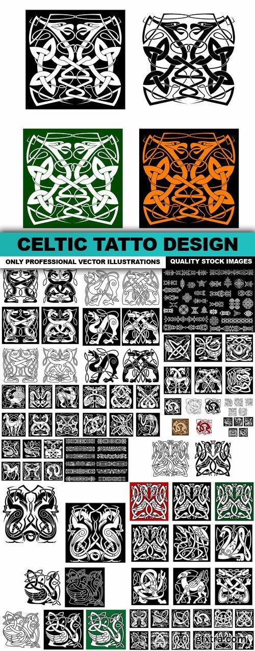 Celtic Tatto Design - 17 Vector