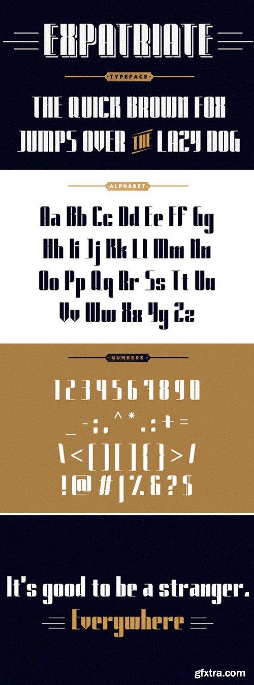 CM - Expatriate Typeface 60667