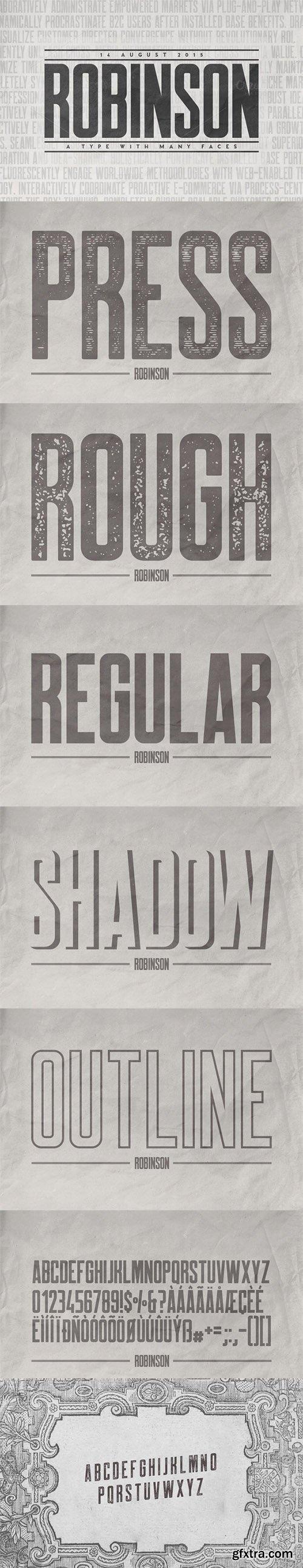 CM Robinson Typeface 18 Fonts 341318