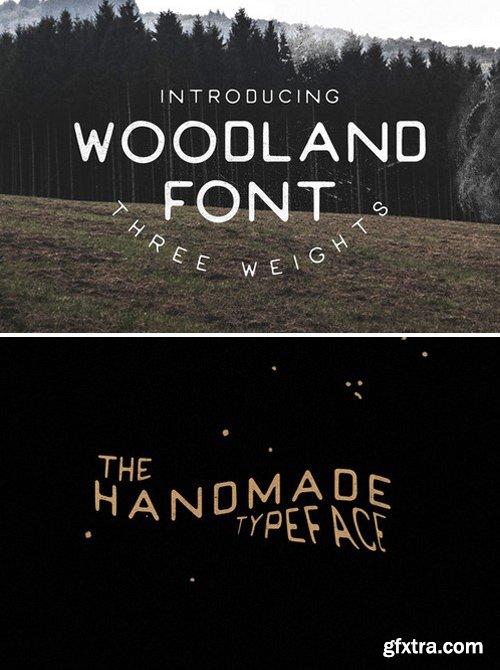CM - Woodland Font - Handmade 341580