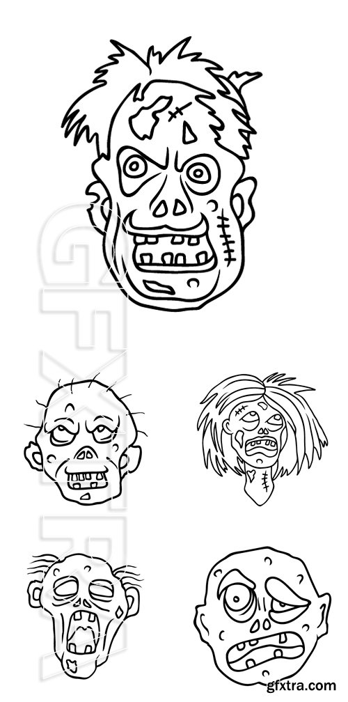 Stock Vectors - Black outline on isolated white background. Cartoon style