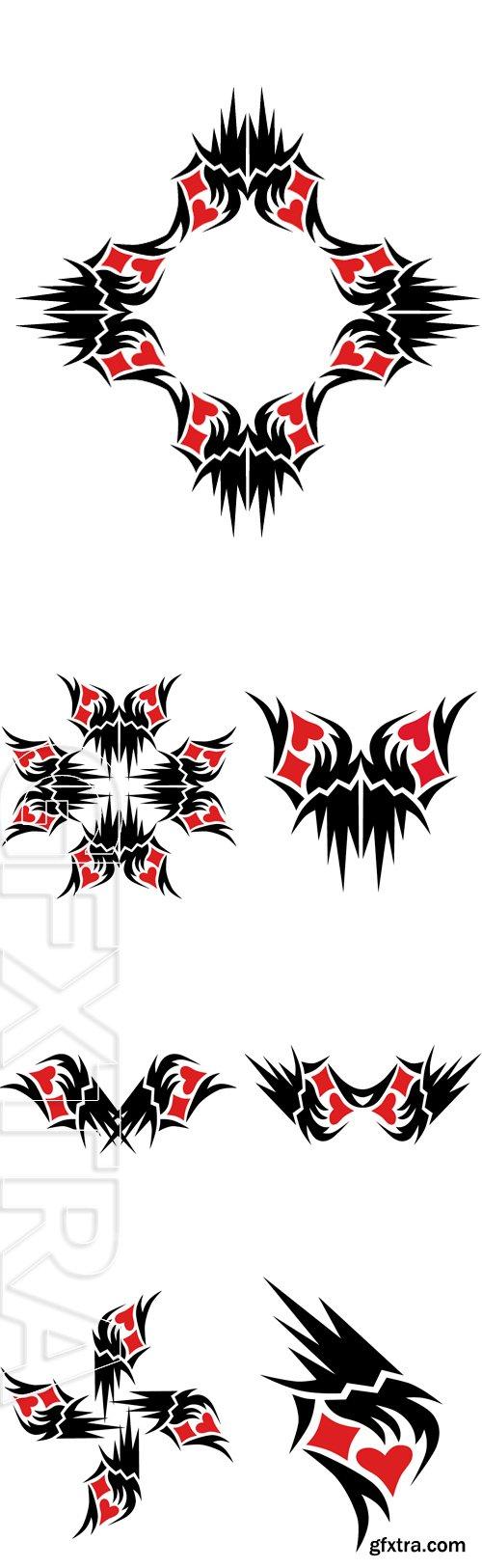 Stock Vectors - Pattern. Design.Tattoo. Ornament