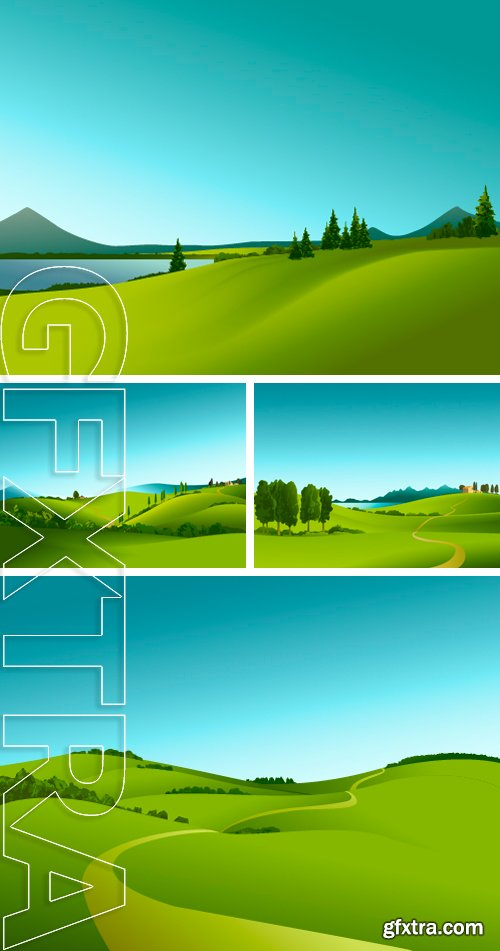 Stock Vectors - Rural landscape