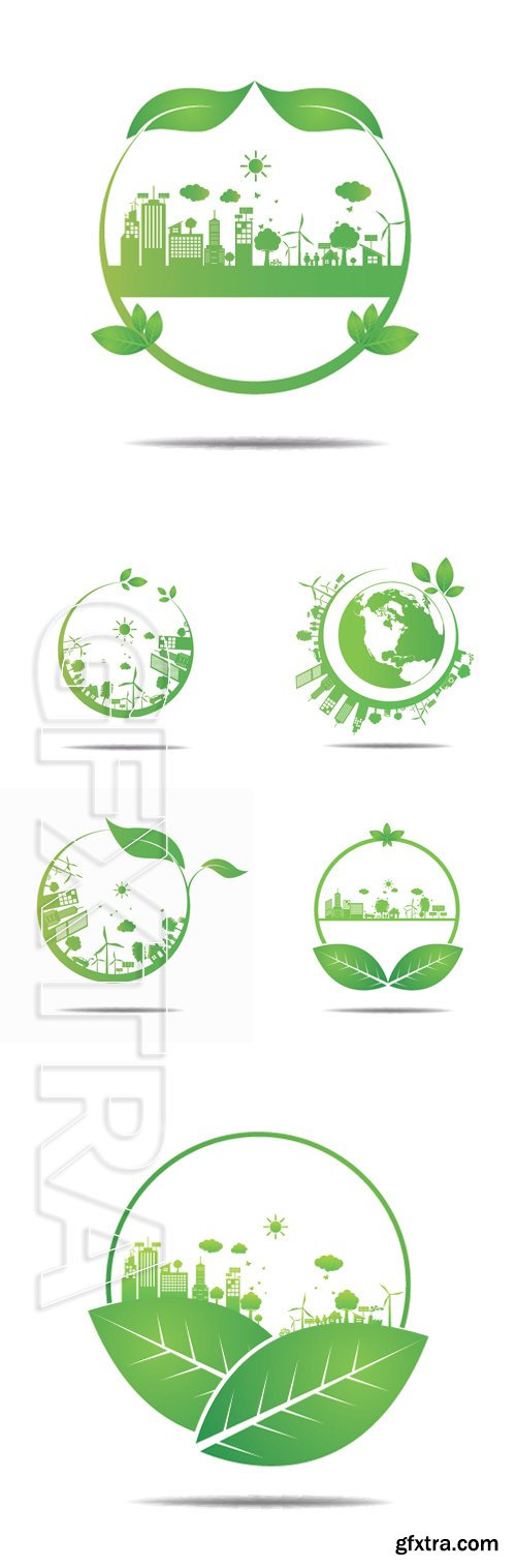 Stock Vectors -Ecology concept. save world