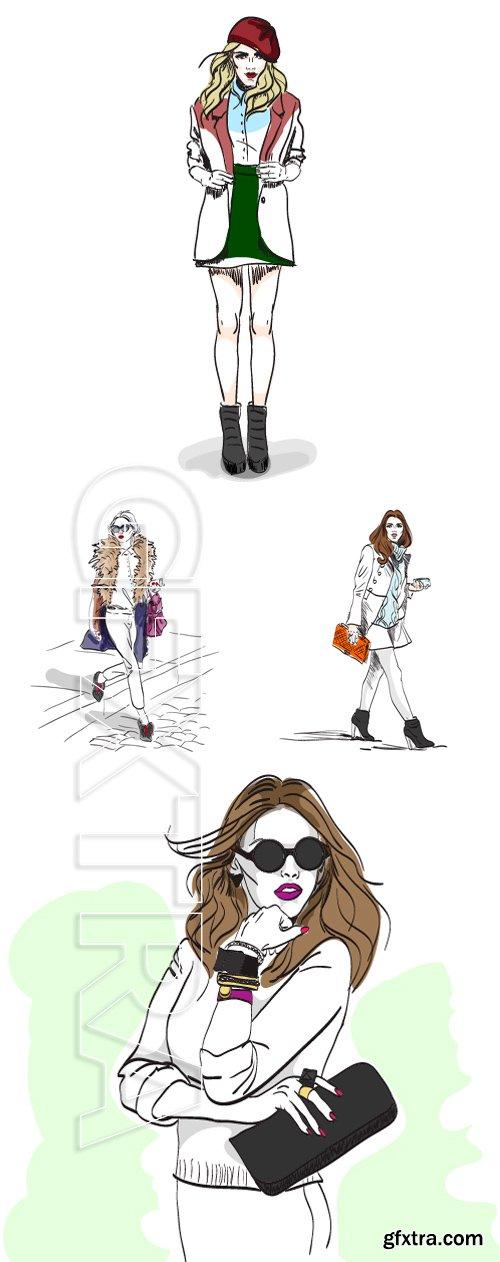Stock Vectors -Model fashion. Sketch, excellent vector illustration