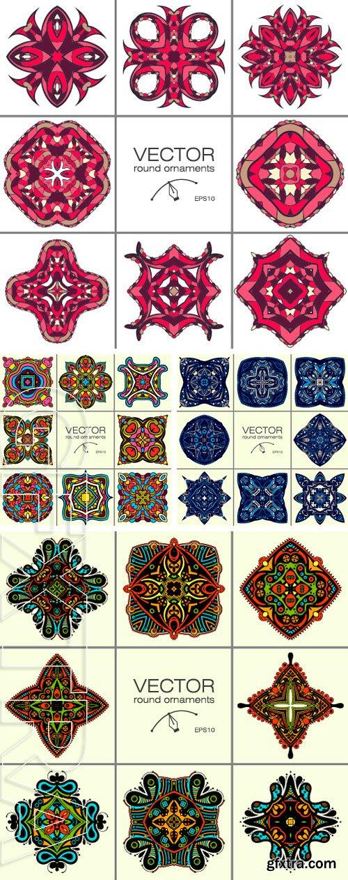 Stock Vectors -Round Ornament Pattern. Vintage decorative elements. Hand drawn background