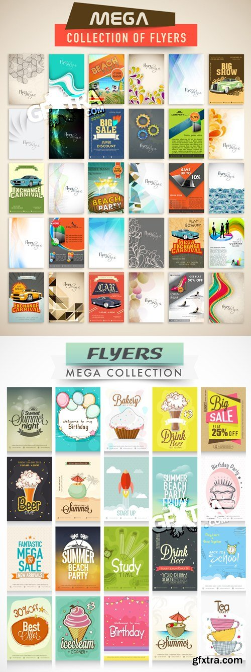 Flyers Collection Vector