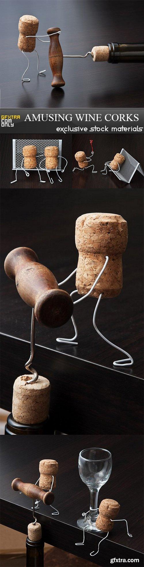 Amusing Wine Corks - 5 UHQ JPEG