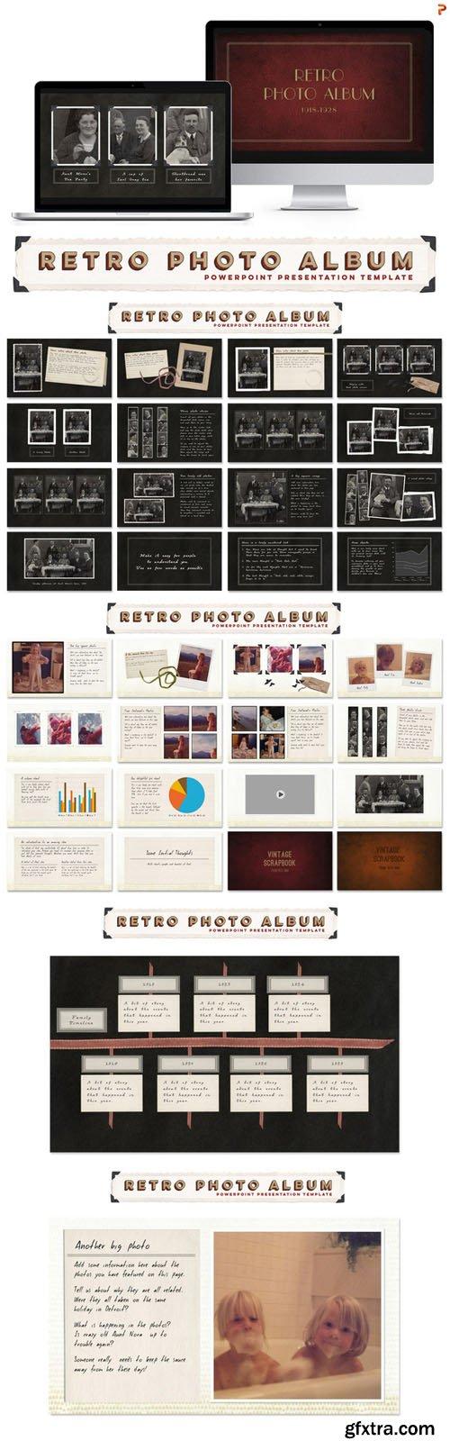 Retro Photo Album PPT Template - CM 283433