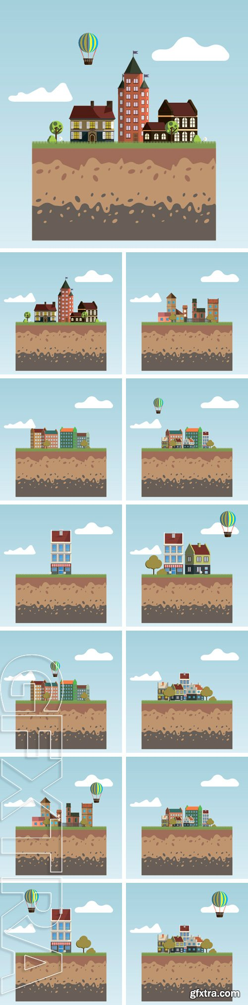 Stock Vectors - Flat design modern illustration icon of urban landscape and city life. Building icon