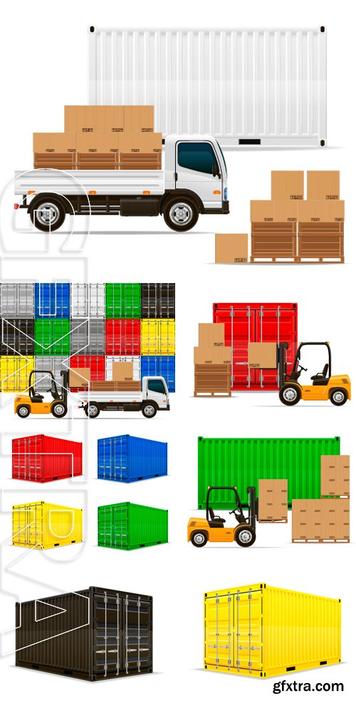 Stock Vectors - Freight transportation concept vector illustration isolated on white background