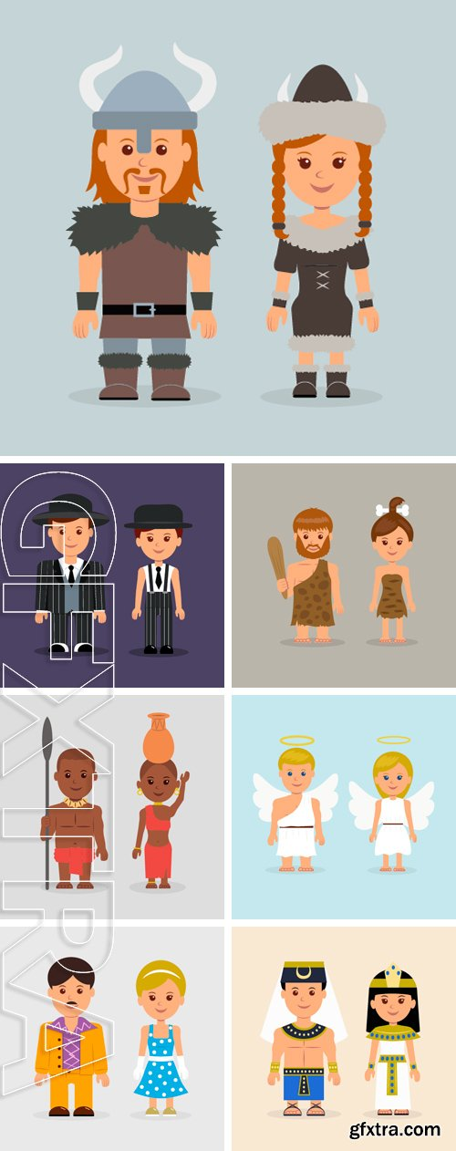 Stock Vectors - Illustration of a man and a woman