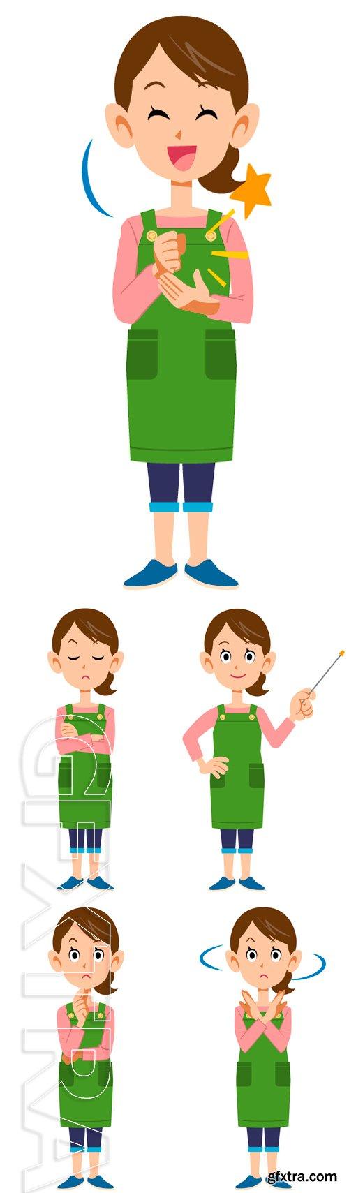 Stock Vectors - Housewife. Vector illustration