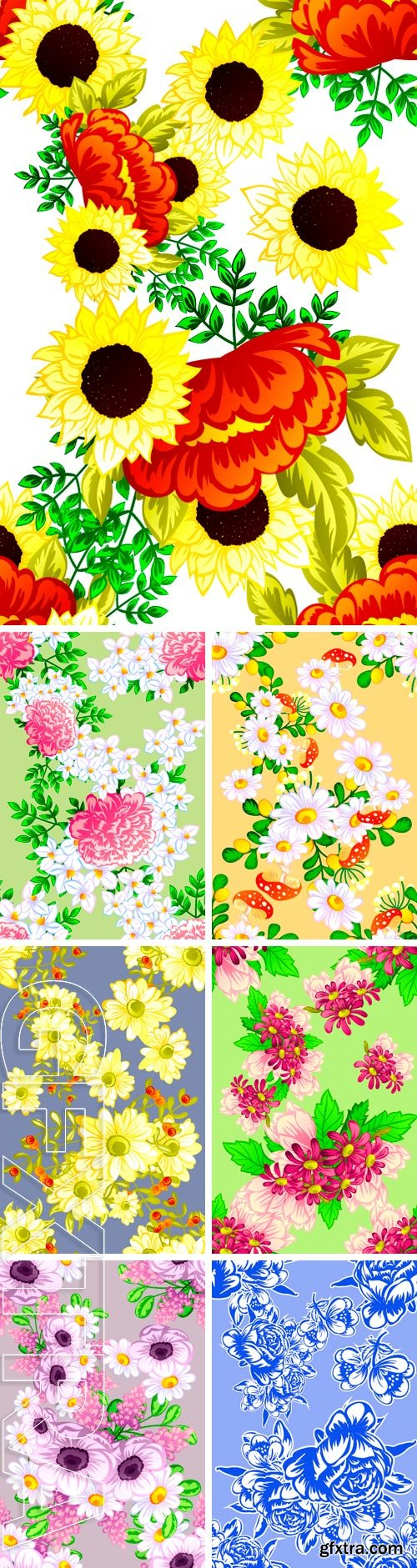 Stock Vectors - Abstract elegance seamless pattern with floral background EPS | JPG Previews | 39 MB RAR