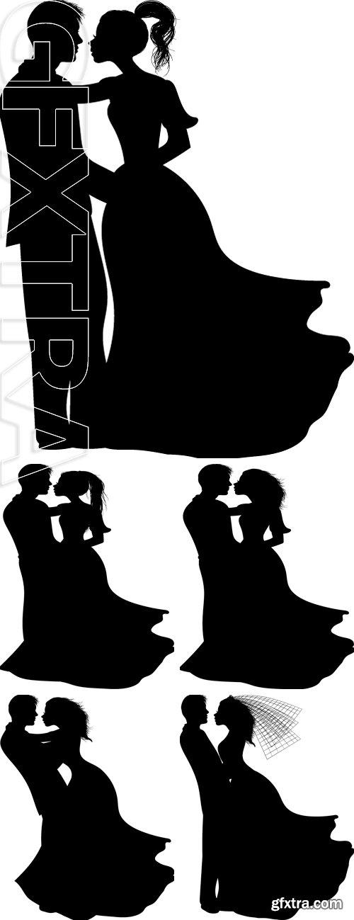 Stock Vectors - Couple Silhouette - Vector Illustration