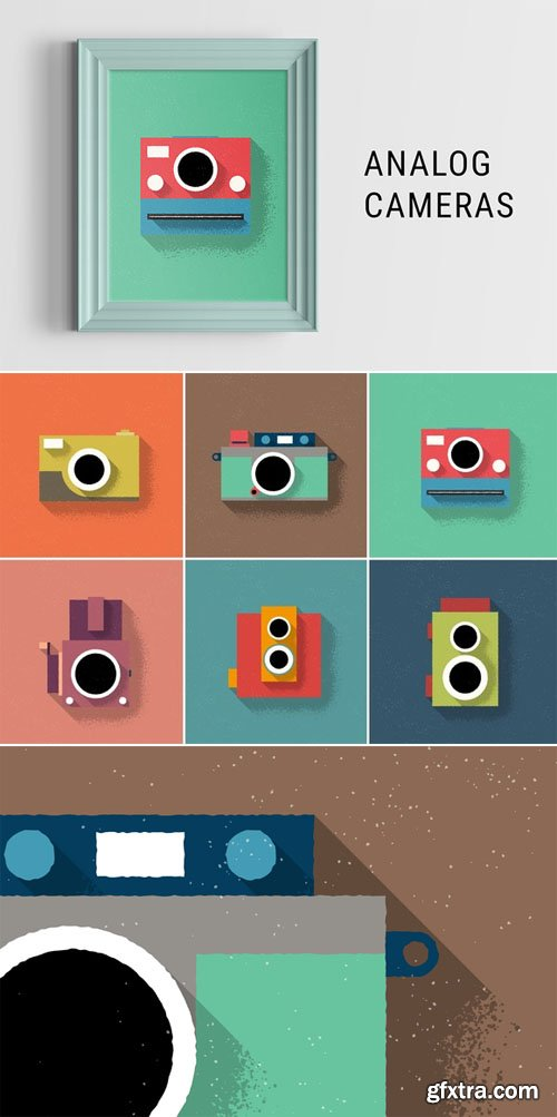 Analog Cameras Illustration - CM 203177