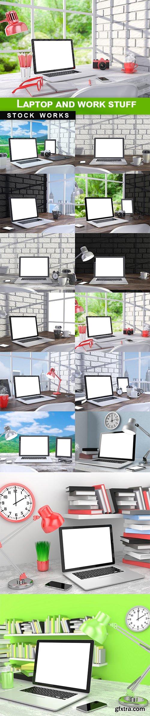 Laptop and work stuff - 14 UHQ JPEG