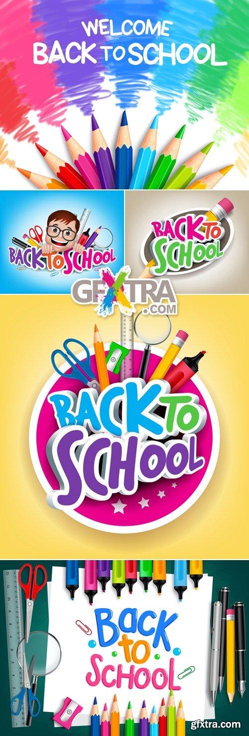 Back to School 2015 Vector 3