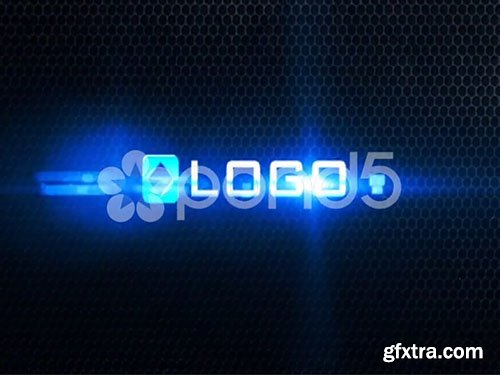 pond5 - Dark Corporate Logo Text Title 3D Light Shatter Particles Reveal Animation Intro