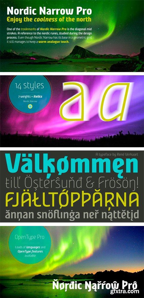 Nordic Narrow Pro Font Family