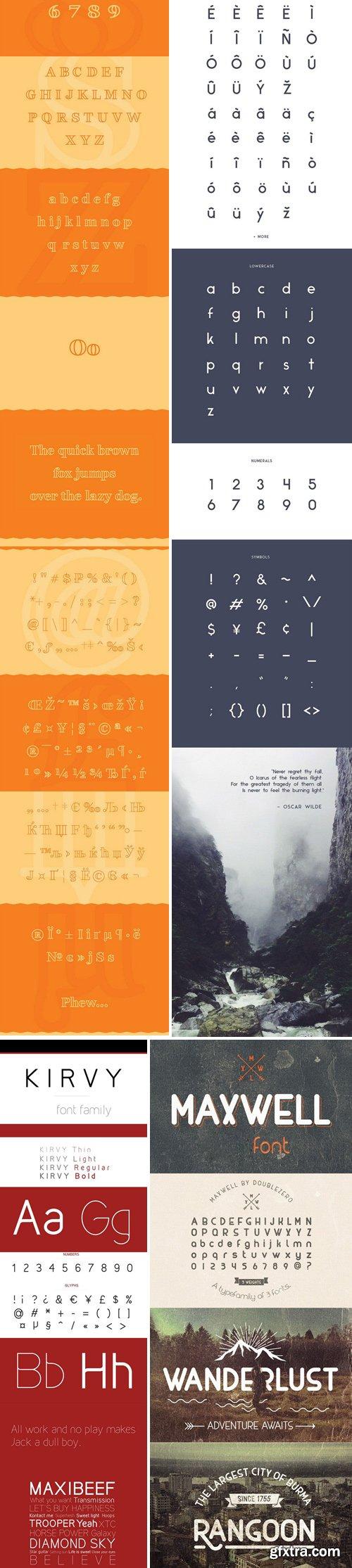 Bundle vol.3 – 21 Custom Fonts!