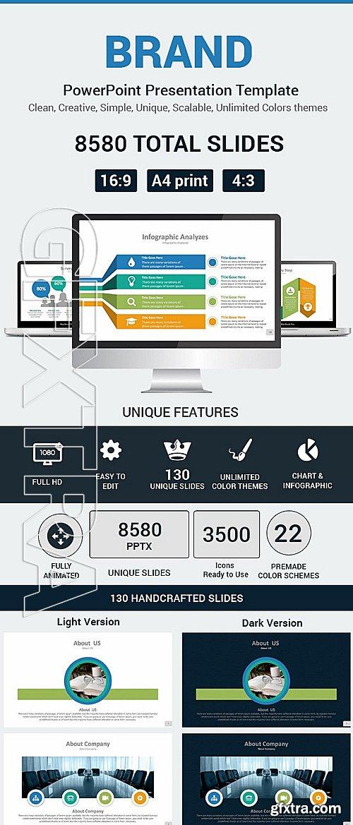 graphicriver - brand powerpoint presentation template 11977488, Graphicriver Folio Powerpoint Presentation Template, Presentation templates