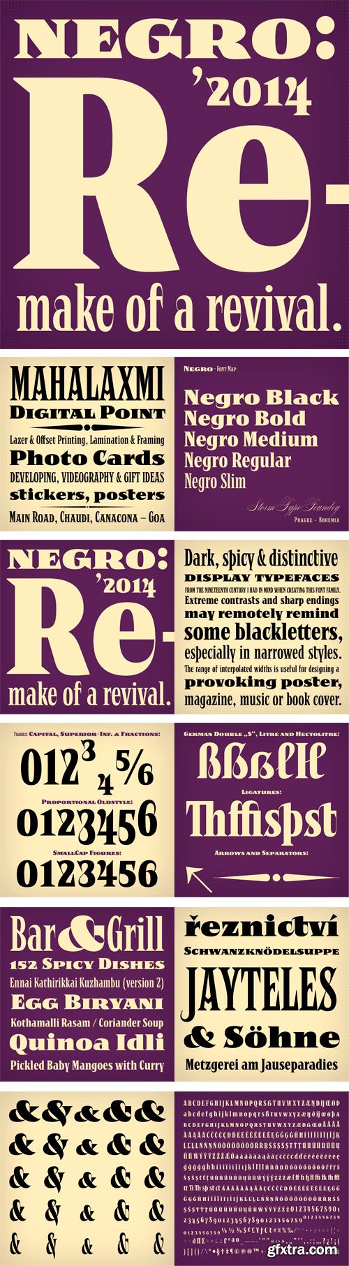 Negro Font Family