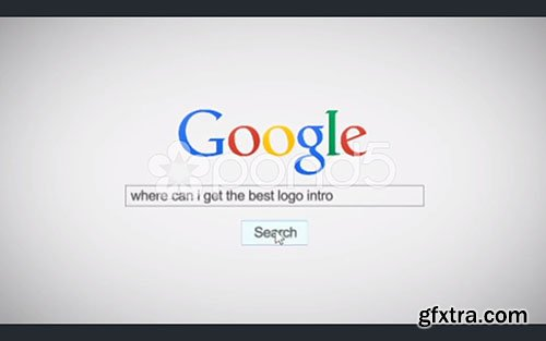 pond5 - Google Search Text Type Business Internet Promo Logo Spin Reveal Opener