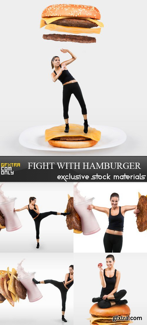 Fight with Hamburger - 5 UHQ JPEG