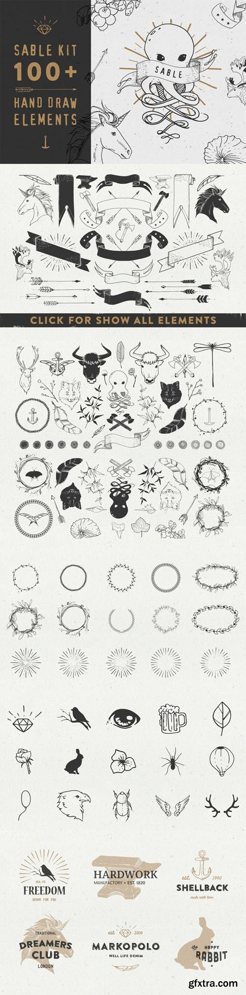 Sable Kit - hand drawn collection - CM 47469