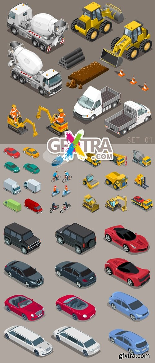 Transport Icons Vector 3