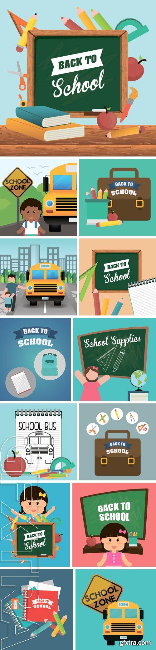 Stock Vectors - Back to school digital design