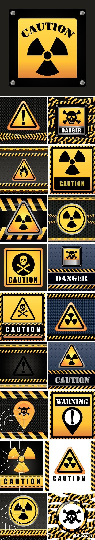 Stock Vectors - Warning sign digital design
