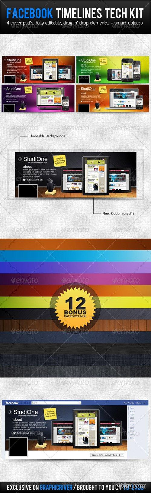 Graphicriver FB Timelines Bundle V3 3394071