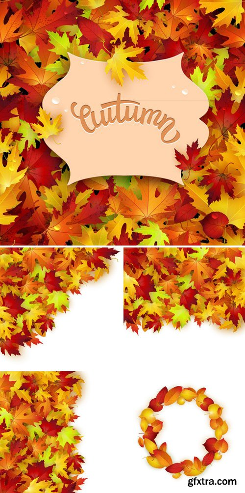 Stock Vectors - Vector Background With Colorful Autumn Leaves