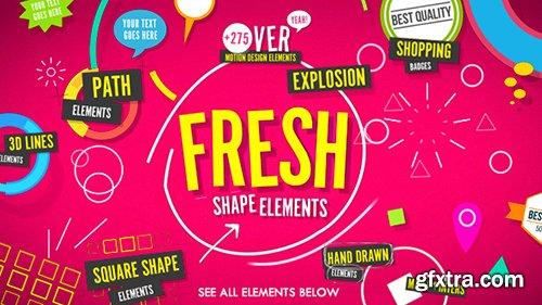 Videohive Shape Elements Fresh 10787487