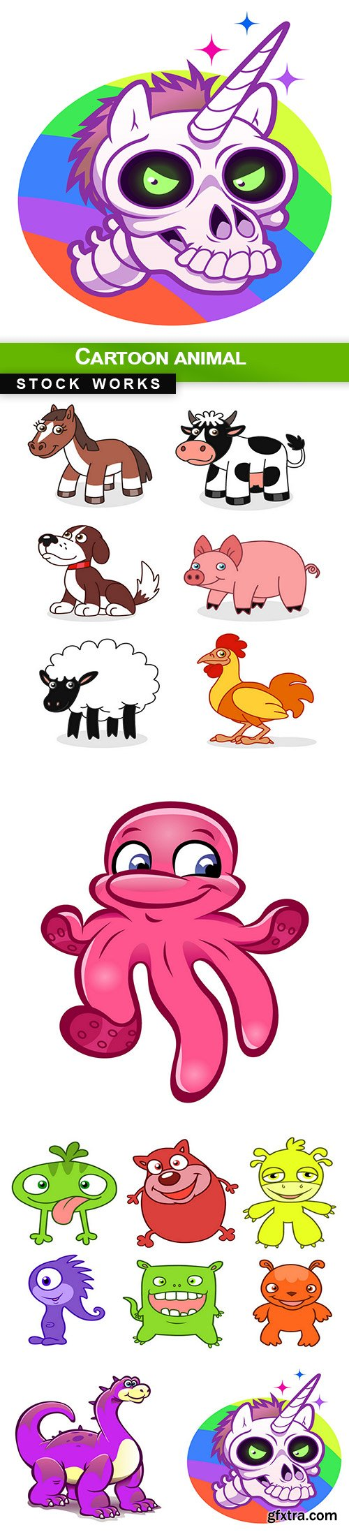 Cartoon animal - 5 EPS