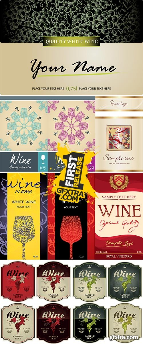 Stock Wine label vector