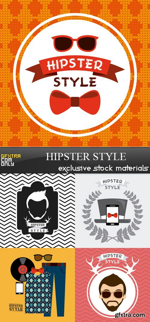 Hipster Style - 5xEPS