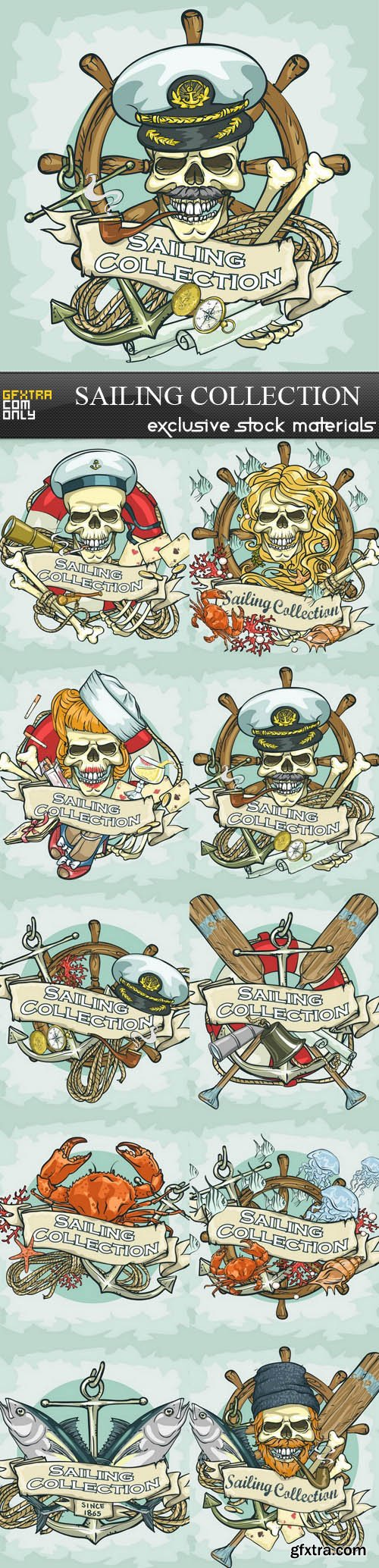 Sailing Collection - 10xEPS