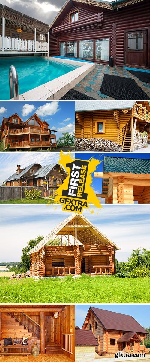 Stock Image Log house from