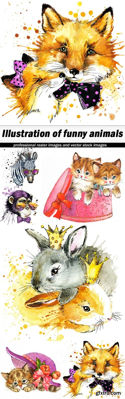 Illustration of funny animals