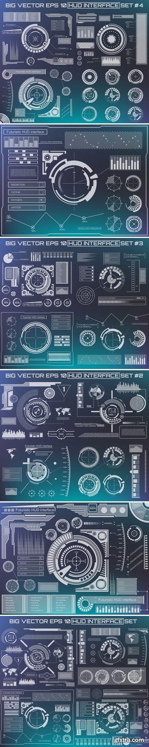 Stock Vectors - Abstract future, concept vector futuristic blue virtual graphic touch user interface HUD