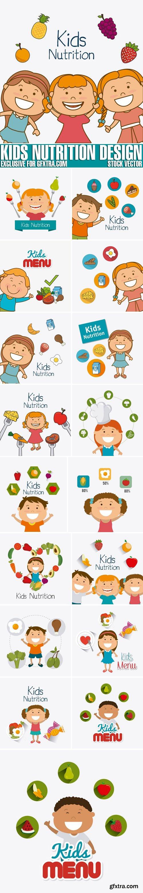 Stock Vectors - Kids nutrition design